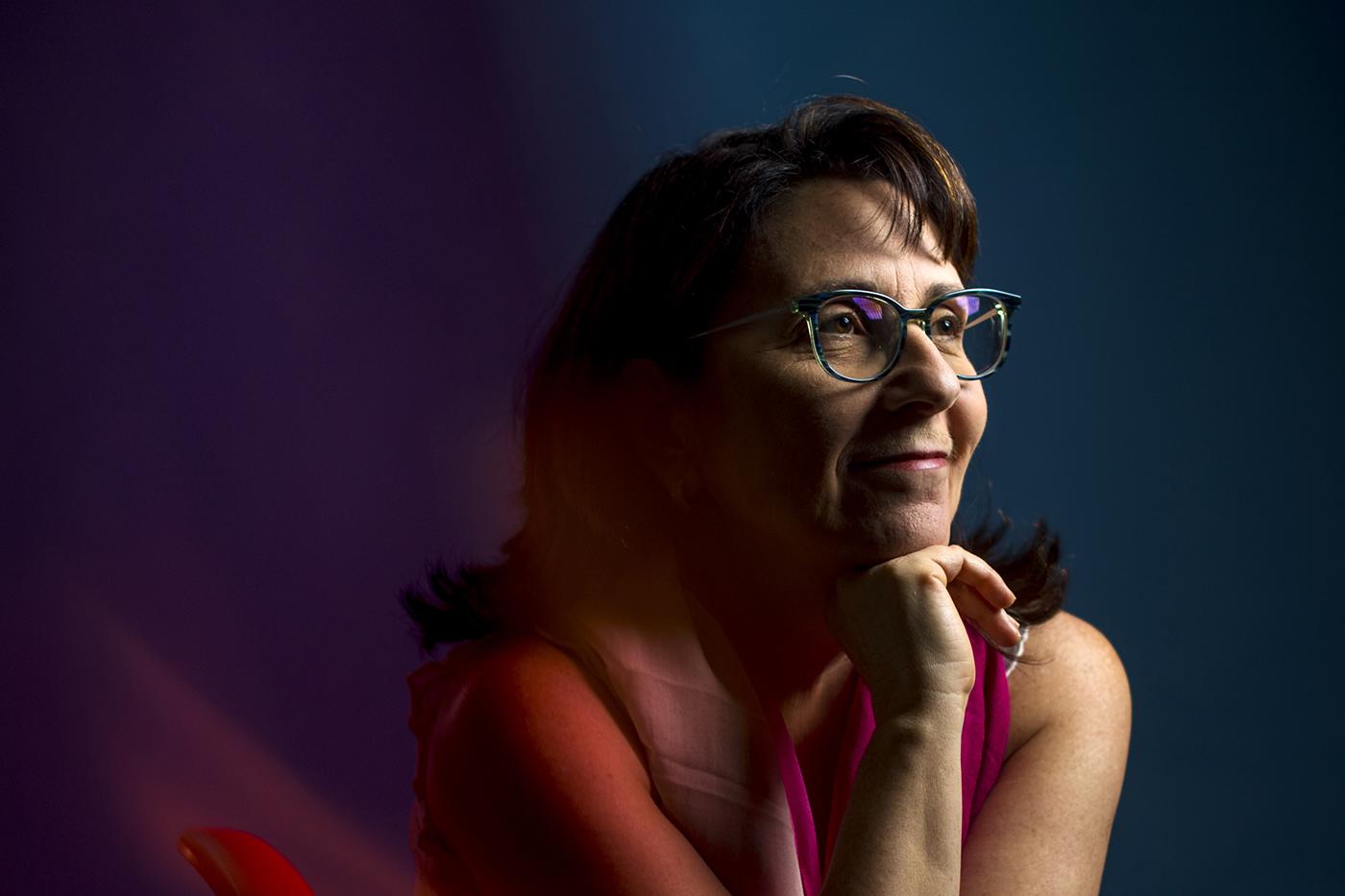 Lisa Feldman Barrett poses for photograph